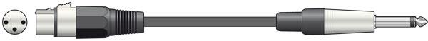 Standard Mic Lead CCA 6.0m