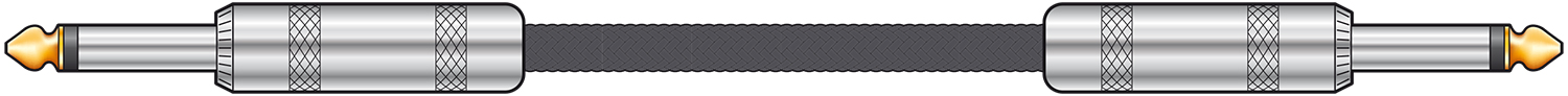 Braided Guitar Lead Black 3m