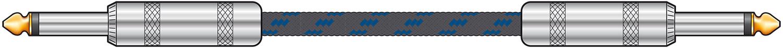 Classic Braided Guitar Lead Black/Blue 6.0m