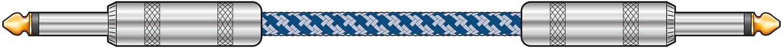 Classic Braided Guitar Lead Blue/White 6.0m