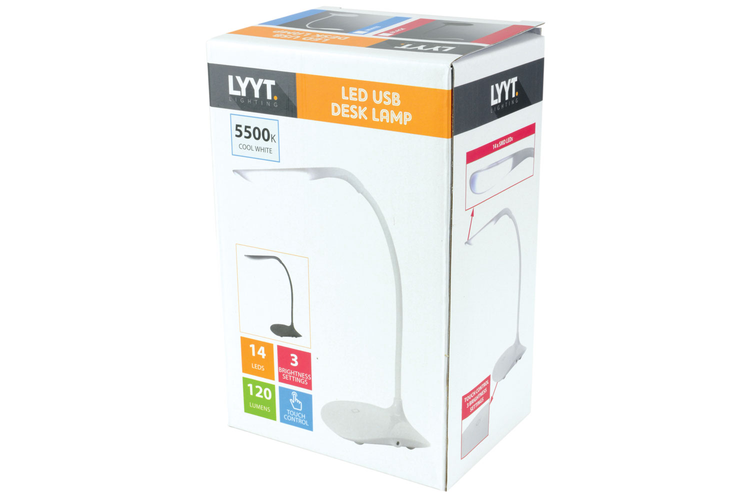 lyyt Compact Battery/USB Powered Desk Lamp