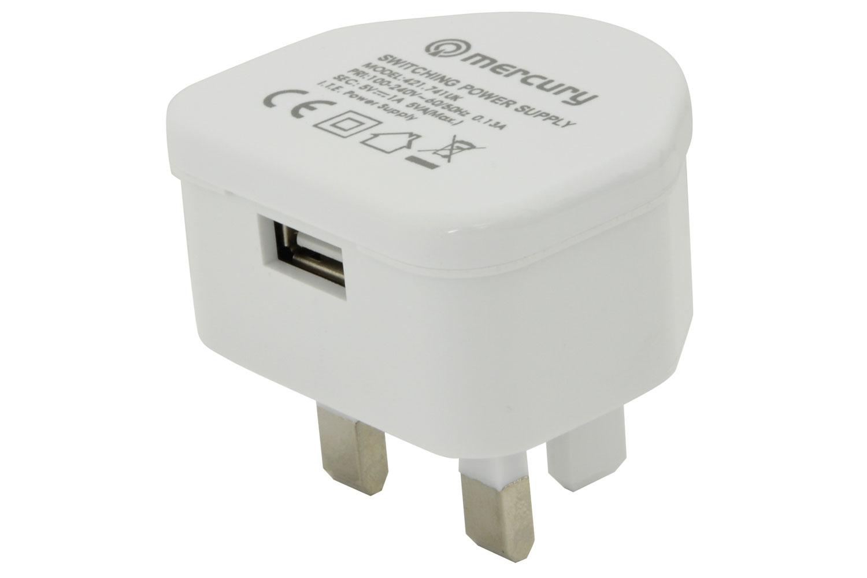 421741 COMPACT USB CHARGER 1000mA