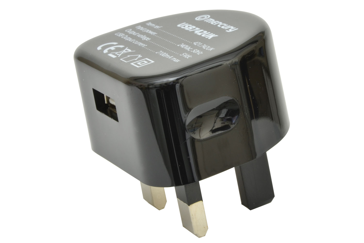 421742 COMPACT USB CHARGER 2100mA Great for All SmartPhones