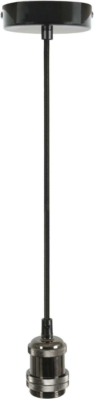E27 Pendant Cord Set Black Chrome