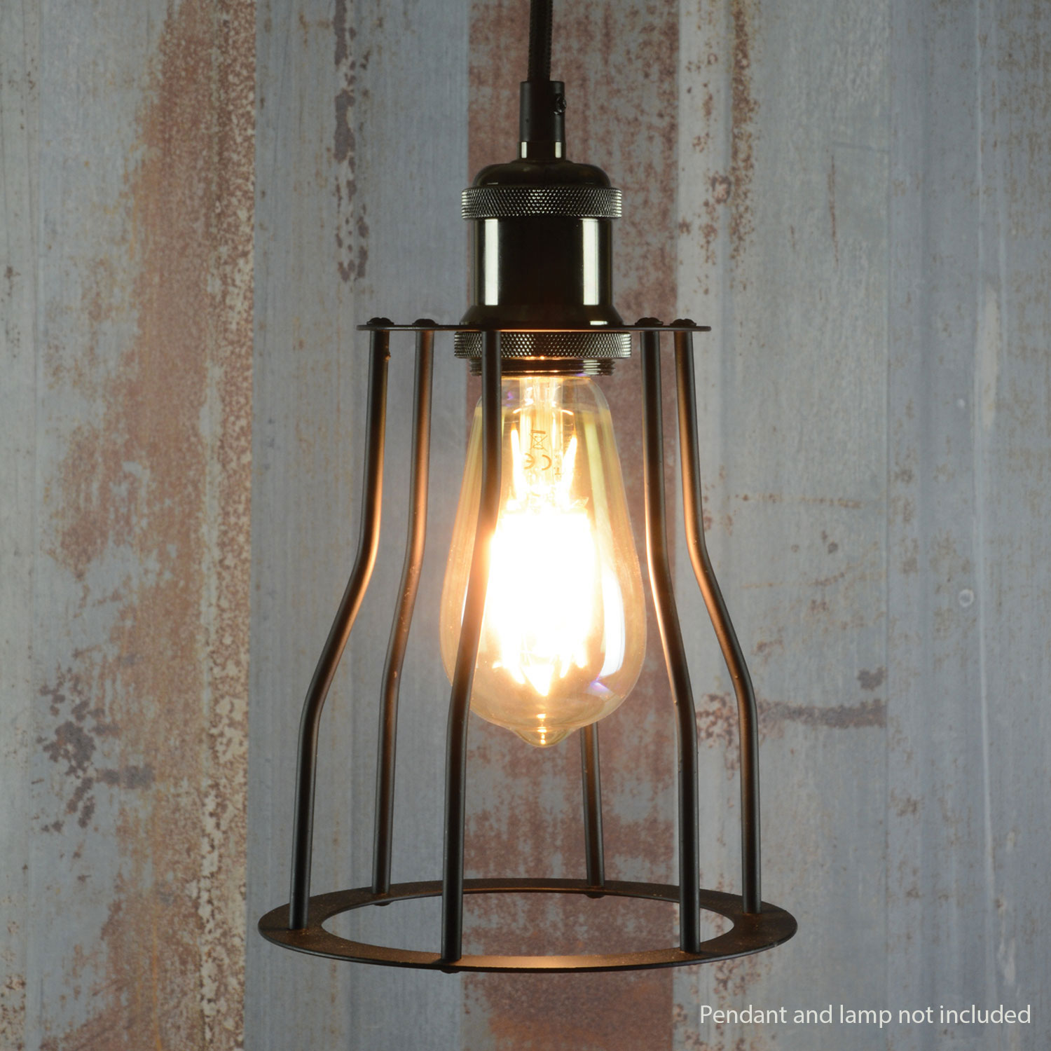 Lamp Cage - Bell - Black