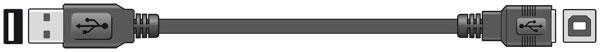 USB A plug to USB B socket, 1.8m - Blister