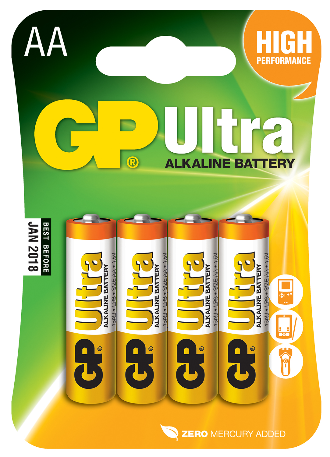 Alkaline Battery AA 4 Pack