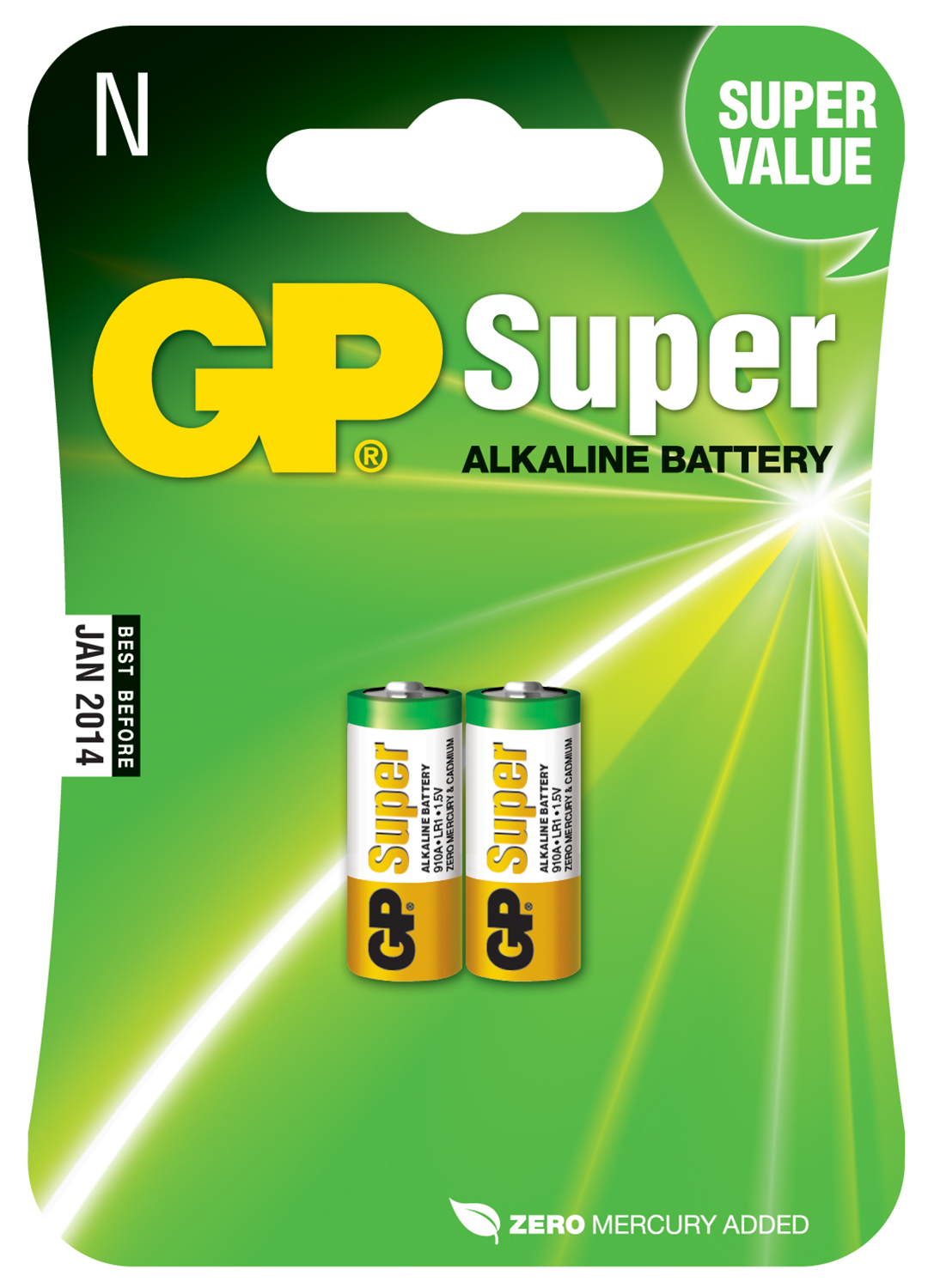 Alkaline Battery, AAAA x 2, 1.5V