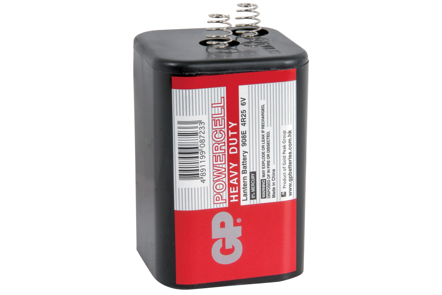GP¶© Powercell Battery, GP908 (PJ996, 4R25), 6V, 66.0x66.0x111.0mm, 1pc/pack.