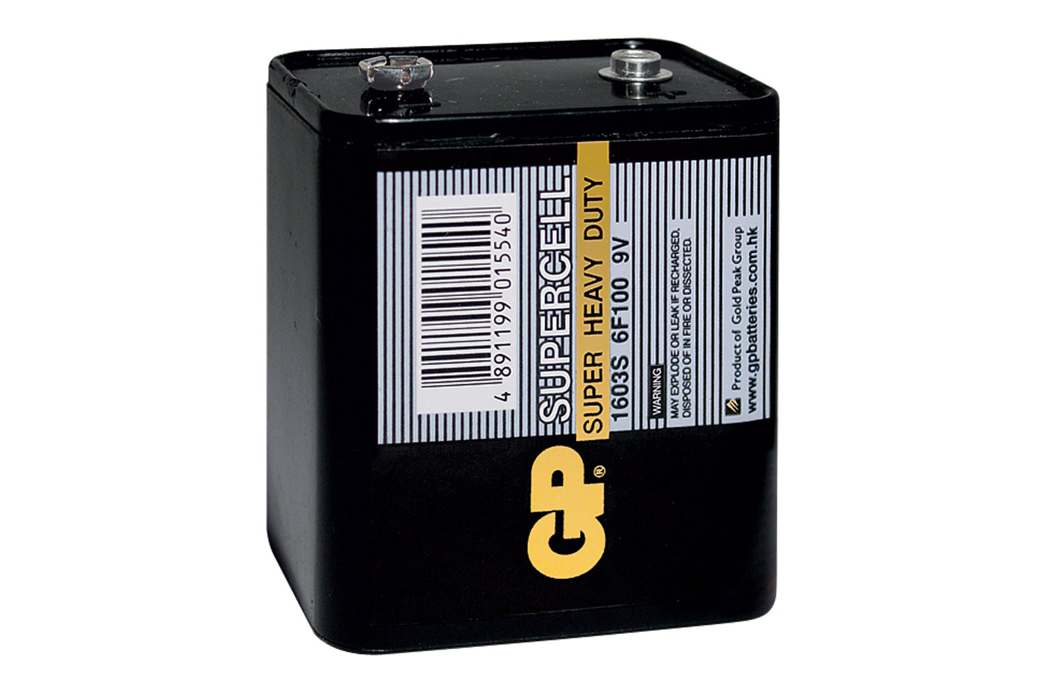 GP? Powercell Battery, GP1603S (PP9), 9V, 63.0x52.0x81.0mm, 1pc/pack