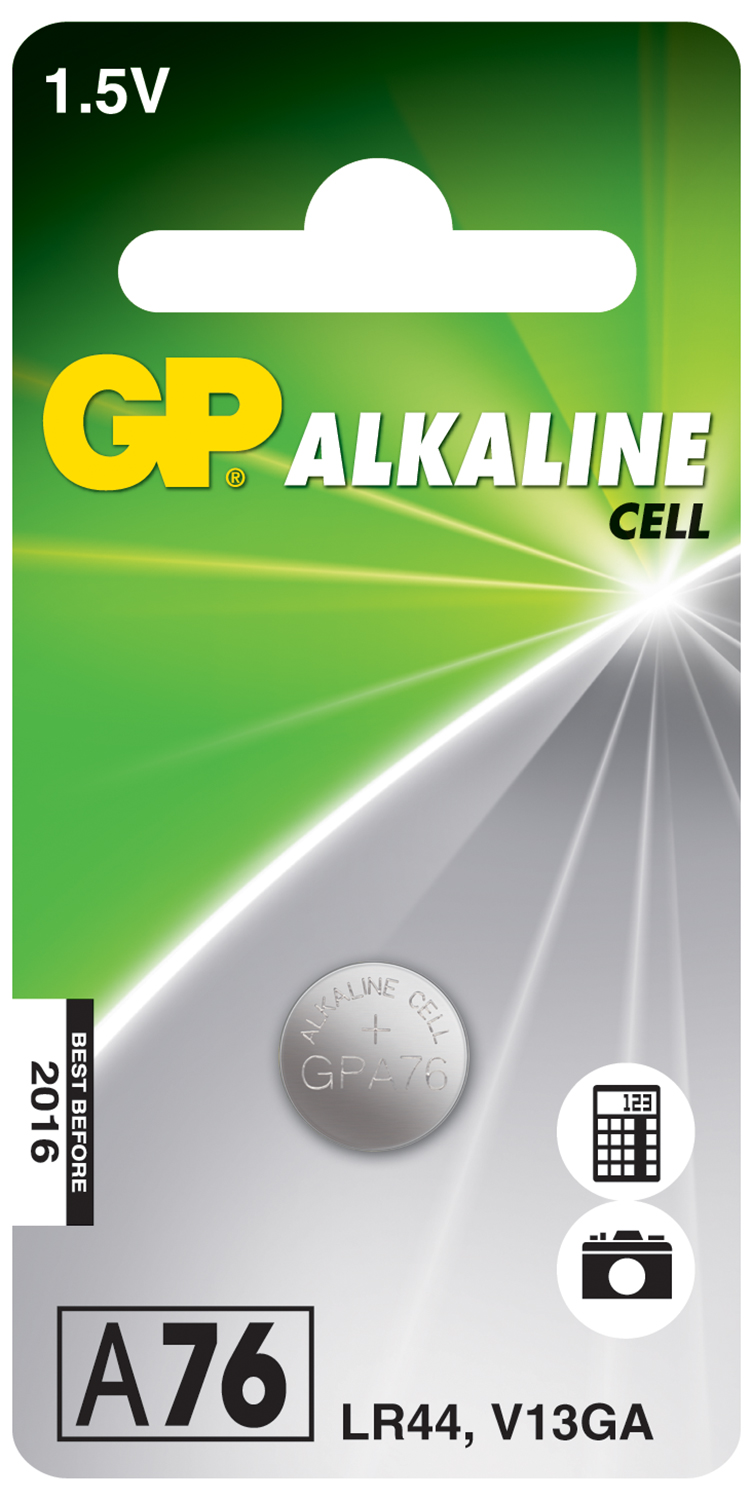 LR44 ( 656206 ) Alkaline button cell, 1.5V - 10 pieces per blister