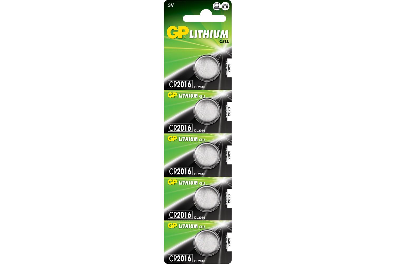 CR1620, 3V, 78mAh, 2.0x16.0mm�, 5pc/card.