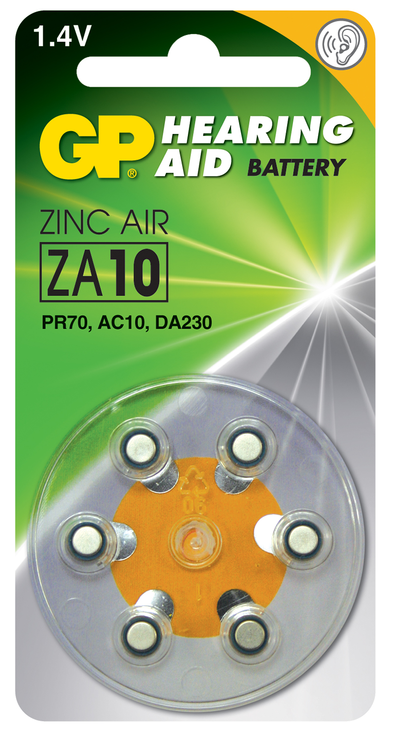 ZA312 (PR41) Brown, 1.4V, 125mAh, 3.6x7.9mm�, 6pcs/pack.