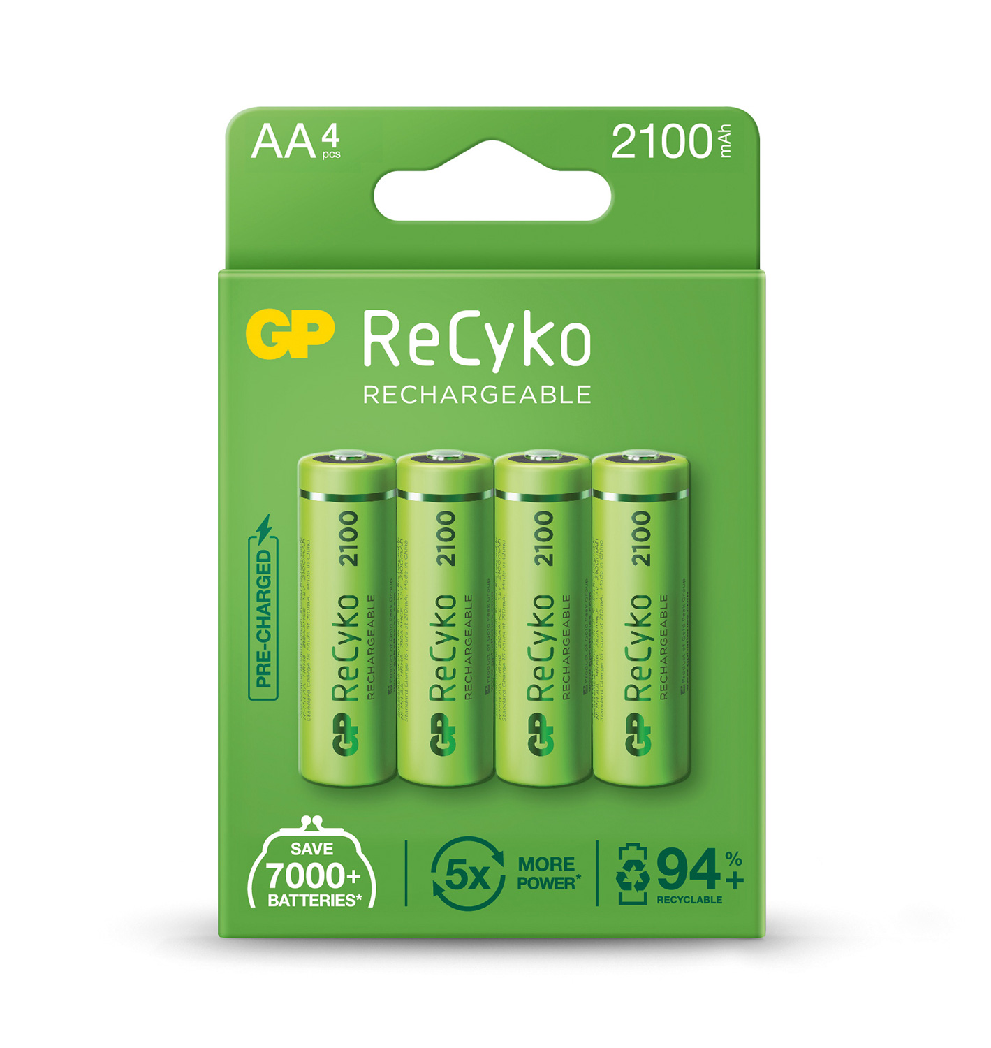 ReCyko+ NiMH Rechargeable Batteries, 155mAh, PP3 per Blister