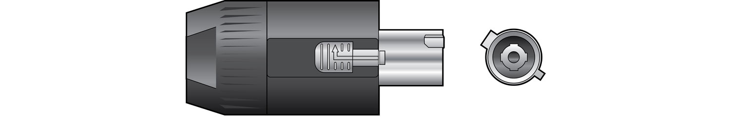 NEUTRIK NAC3FC-HC 32A Female Powercon Connector