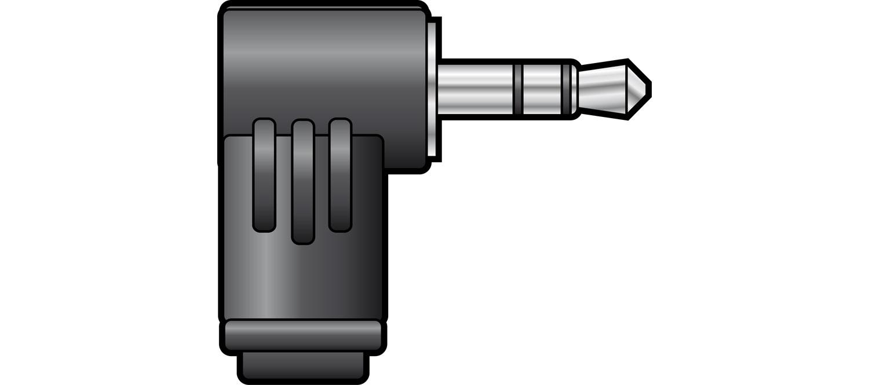3.5mm stereo plug, right angle