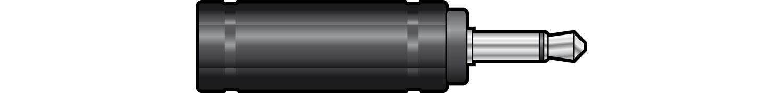 WE1187A Adaptor 3.5mm mono plug to 6.3mm mono socket