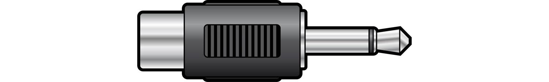 WE1193 Adaptor 3.5mm mono plug to RCA socket