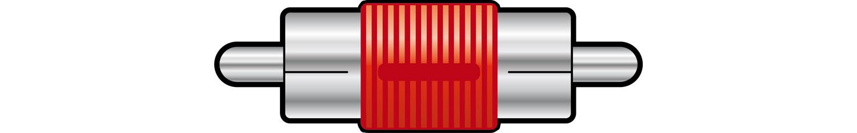 Adaptor RCA plug to RCA plug, Red