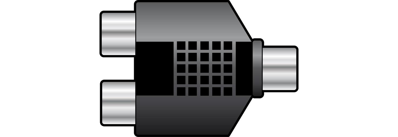 Splitter RCA socket to 2 x RCA sockets