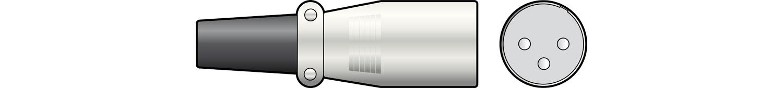 XLR plug, 3-pin