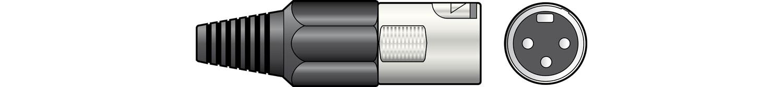 XLR plug, short, 3-pin