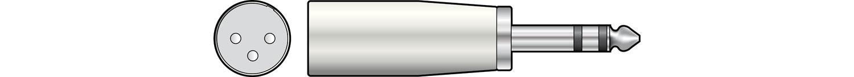 XLR Plug - 6.3 Stereo Plug