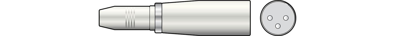 XLR Plug - 6.3 Stereo Socket