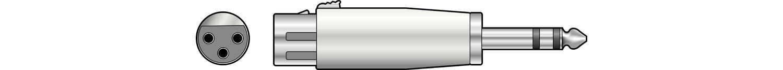 XLR Socket - 6.3 Stereo Plug