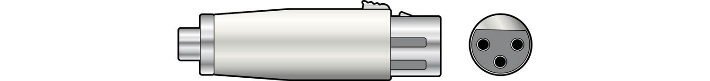 Adaptor XLR socket to RCA socket