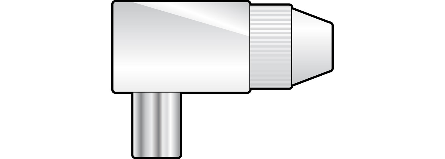 Coax plug, right angle