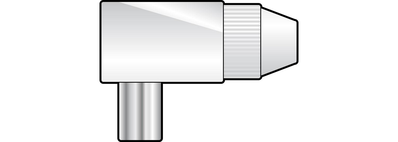 Coax plug, right angle