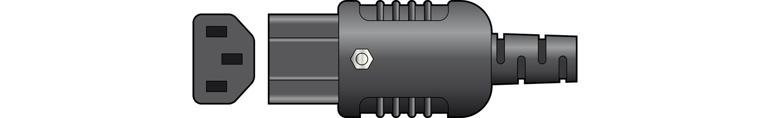 Heavy Duty In-line IEC Connector C13