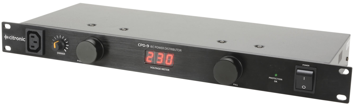 "citronic CPD-9 19"" 8-Way IEC Power Distributor"