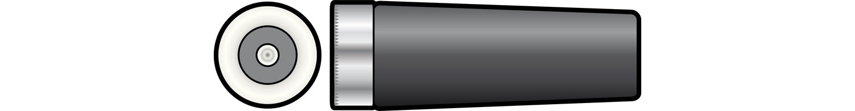 In-line DC socket, 2.1mm� hole