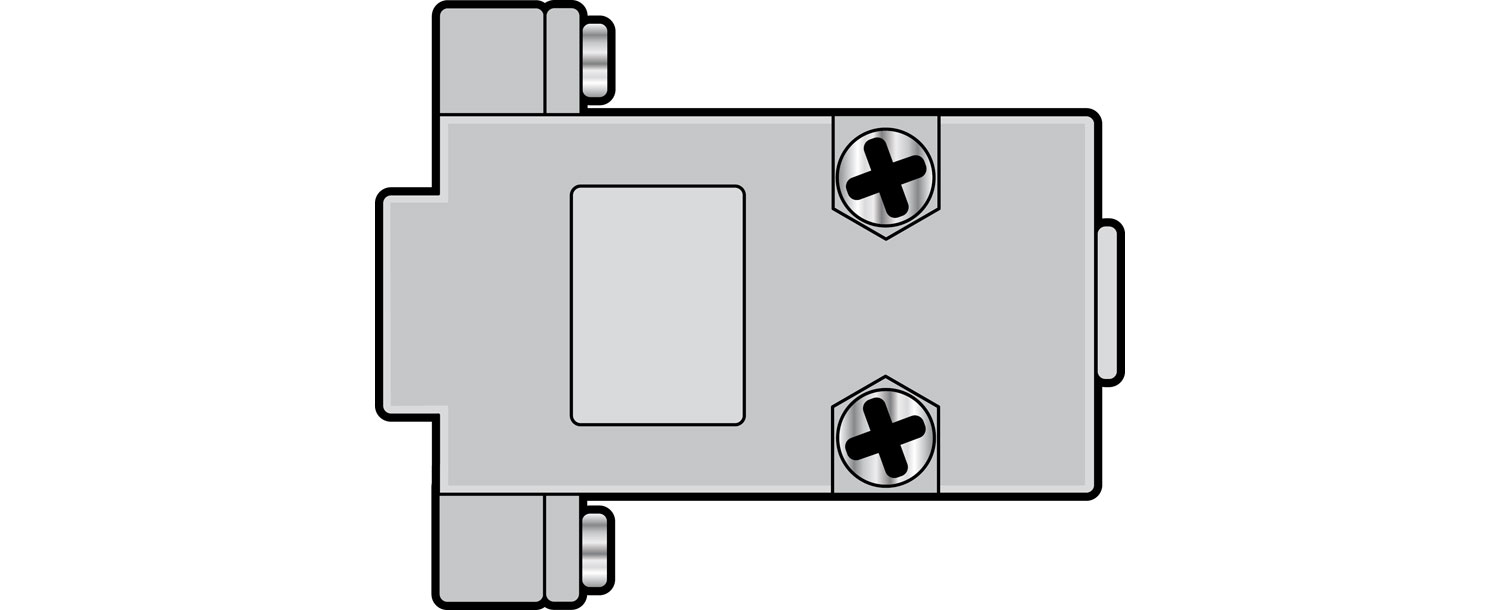 Plastic cover for D type connectors, 15 Pin