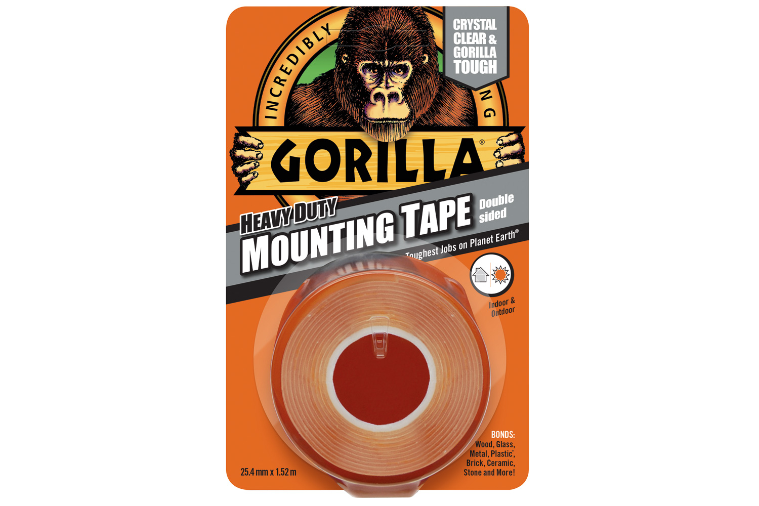 Gorilla Clear Mount Tape 1.5m
