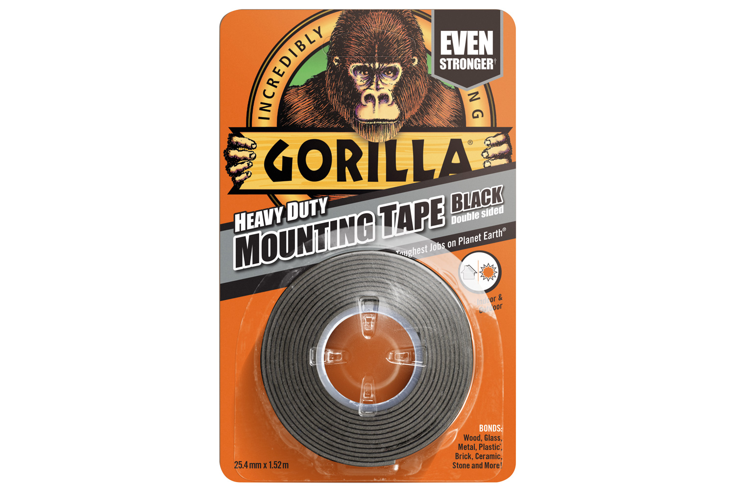 Gorilla Black Mount Tape 1.5m