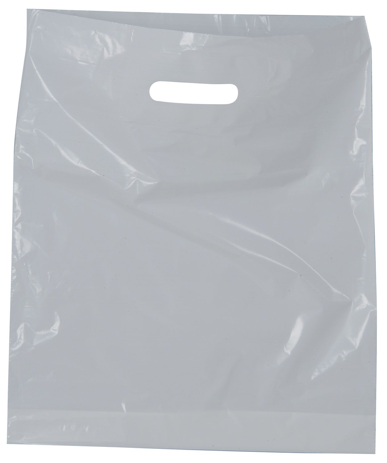 "White Carrier Bag, 380 x 457 x 75mm (15"" x 18"" x 3 "" approx), 30 microns"