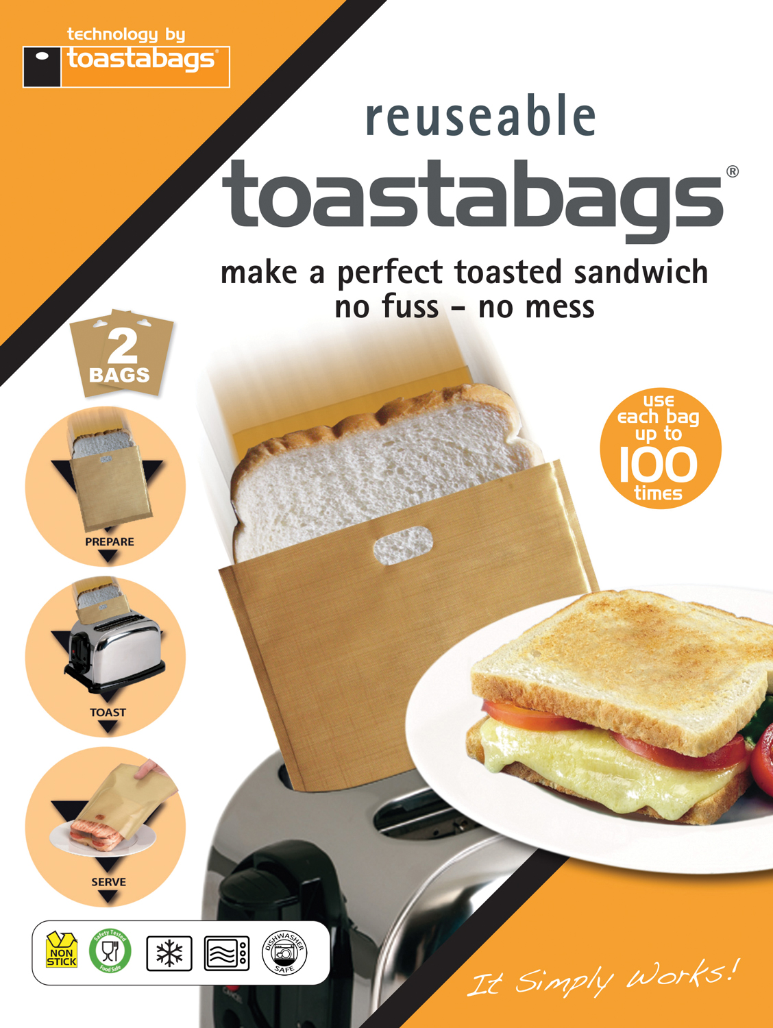 Toastabags 100 Use - 2 Pack