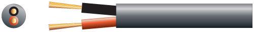 100V line speaker cable, 2 x 45/0.2mm, 15A, Black, 100m