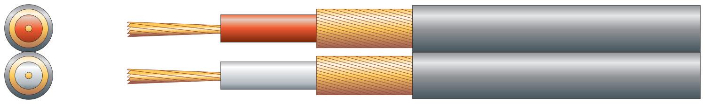 2 core individual lap screen, 2 x 13/0.1mm, 2 x 32/0.1mm, Black, 100m