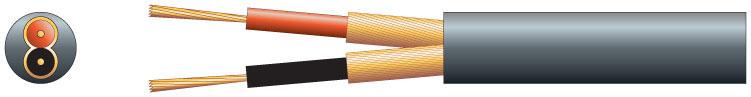 2 core, 2 x 20/0.1mm, 2 x 51/0.1mm, 6.5mm�, Black, 100m