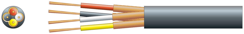4 core individual lap screen, 4 x 7/0.1mm, 4 x 32/0.1mm, 4.5mm�, Black, 1