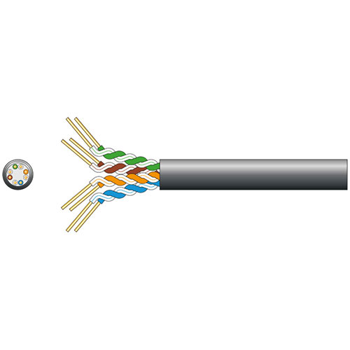 Cat5e U/UTP LDPE Gel Filled Network Cable 305m Black