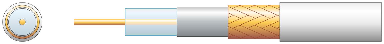 Mercury 808131 RG6 Cu Braid Air Wht 100m