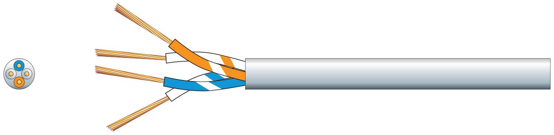 mercury 2 Pairs Telephone Cable CCS White 100m
