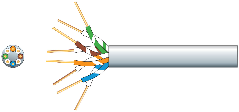 mercury 4 Pairs Telephone Cable CCS White 100m