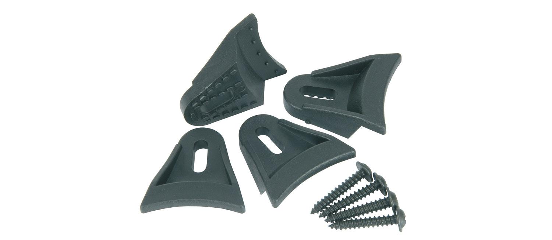 Set of 4 Plastic speaker clamps, with wood screws