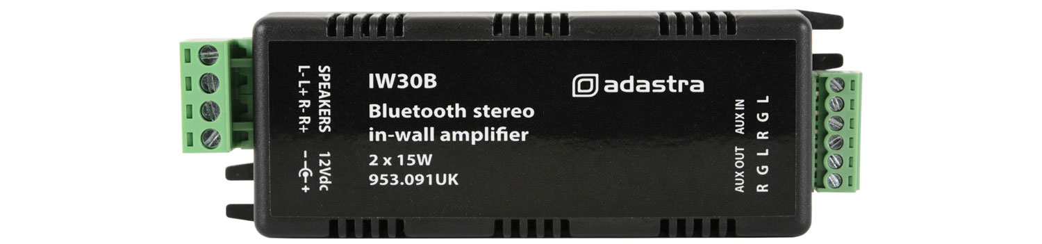 In-wall Bluetooth¨ Amplifier 2 x 15W